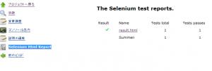 Jenkins selenium report